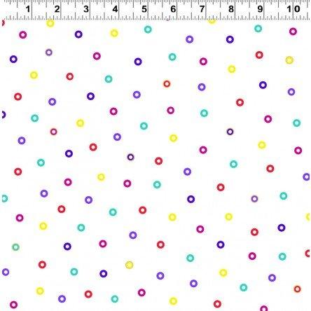 Laurel Burch Basic Circle Y1123-1M White Metallic