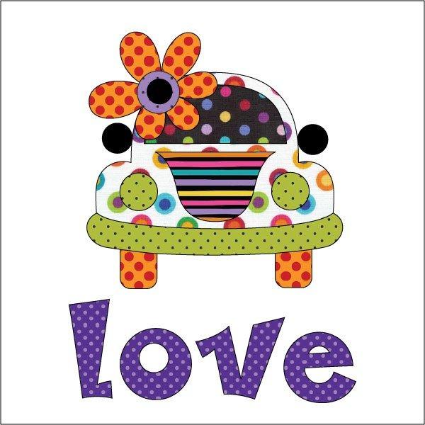Love Bug Applique using ColorWorks Concepts