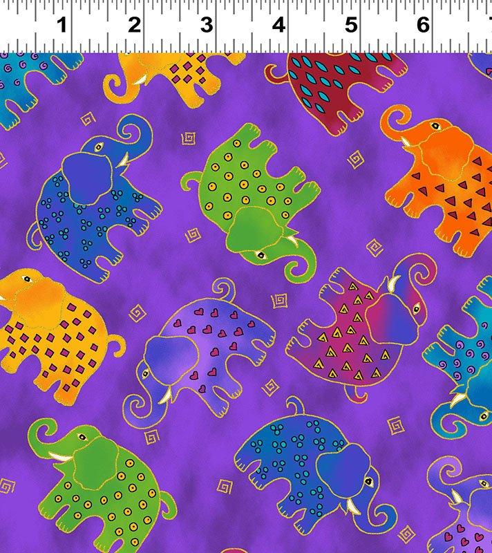 Mythical Jungle Y 2139-27M Purple