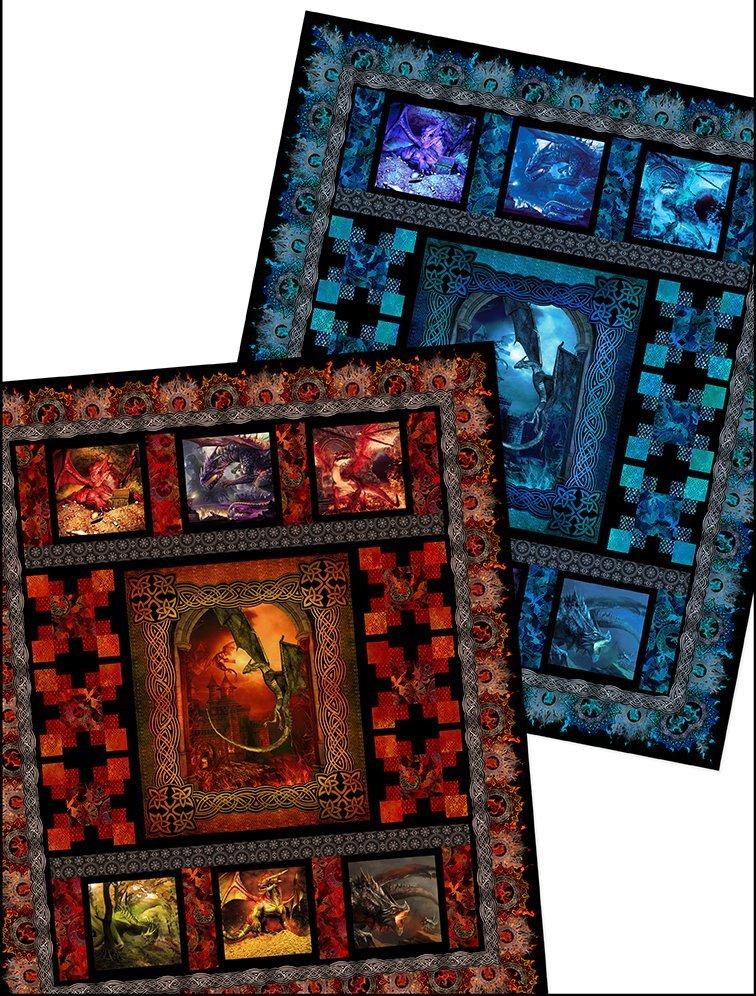 Dragons Quilt Pattern 76-1/2 x 92-1/2