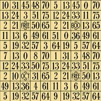 Sew Scary 1649-23860-S Lt. Gold Number Grid