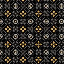 Midnight Poppies Q1810-42387-995 Cafe' Diamonds Black