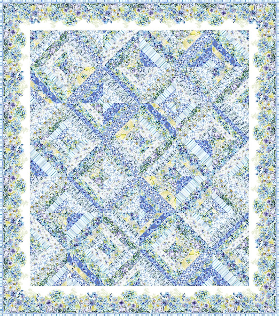 Leah Collection Quilt Pattern 79-1/2 x 89-1/2