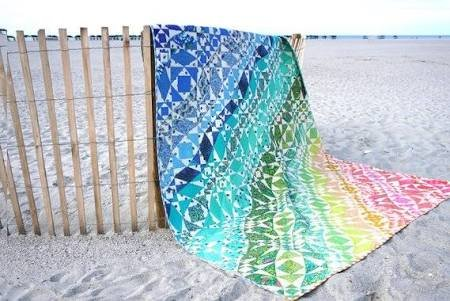 Rainbow Waves Quilt Kit 80 x 96