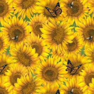 Country Paradise B-9358-44 (Sunflowers Allover)
