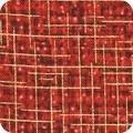 Quilter's Burlap Metalic SRKM 14572-91 Crimson