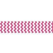 7/8 Chevron Grosgrain Ribbon Hot Pink