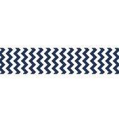 7/8 Chevron Grosgrain Ribbon Navy Blue