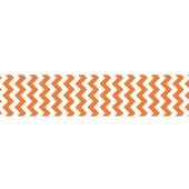 7/8 Chevron Grosgrain Ribbon Orange