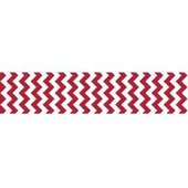 7/8 Chevron Grosgrain Ribbon Red