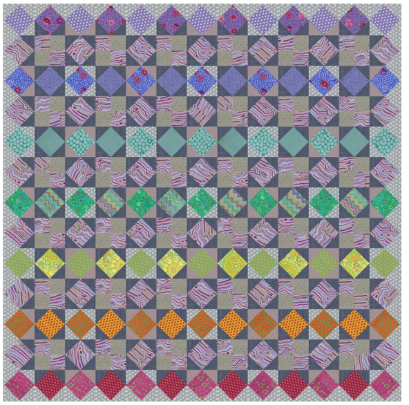 Rainbow Star Summer Quilt - Sunset Colorway