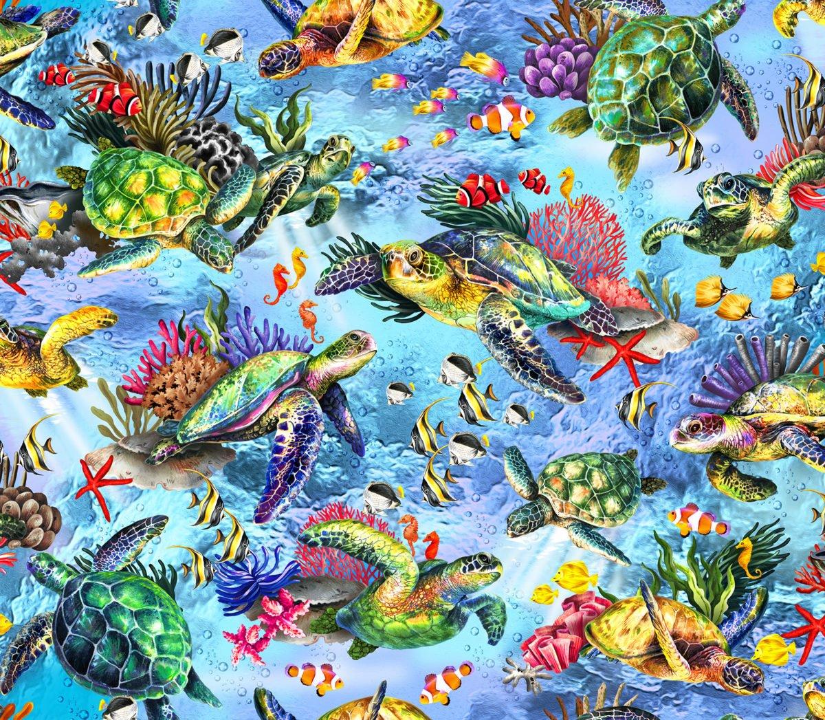 The Reef OA593822 Sea Turles Light Blue