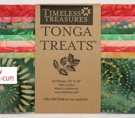 Watermelon - Tonga Batiks Tonga Treats Shortcake 10 Squares