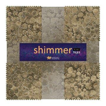 Eclipse Shimmer Metallic Tiles TSHIMMR42-12 Sand 10 Squares