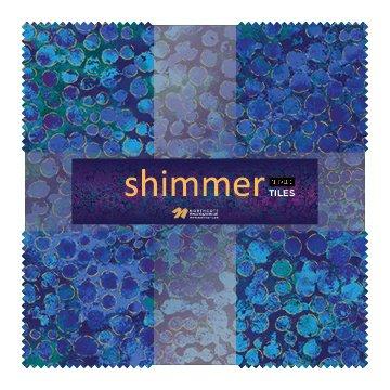 Eclipse Shimmer Metallic Tiles TSHIMMR42-42 Deep Blue Sea 10 Squares