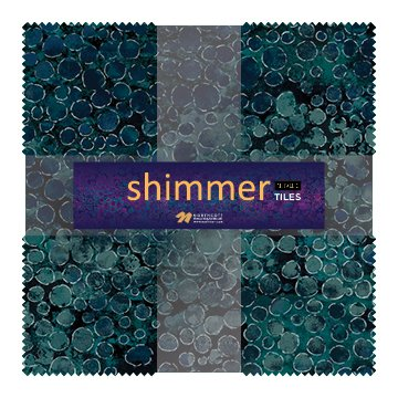 Eclipse Shimmer Metallic Tiles TSHIMMR42-68 Iceberg 10 Squares