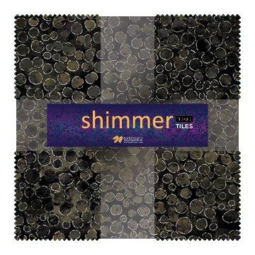 Eclipse Shimmer Metallic Tiles TSHIMMR42-98 Black Earth 10 Squares