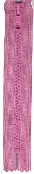 Vislon 1-Way Separating Zipper 22in Holiday Pink # VSP22-515