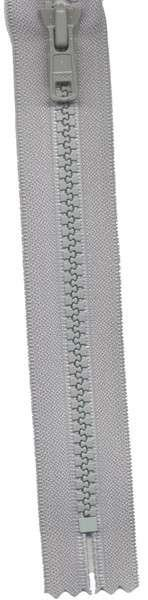 Vislon 1-Way Separating Zipper 22in Foggy Gray # VSP22-S582