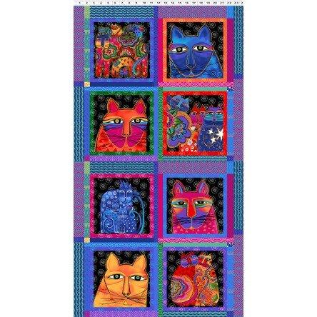 Feline Frolic Y2796-55M Multi 24 Panel