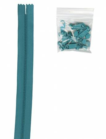 By Annie 4 yards of 16mm #4.5 Zipper Chain and 16 Ex-Large 204 Emerald