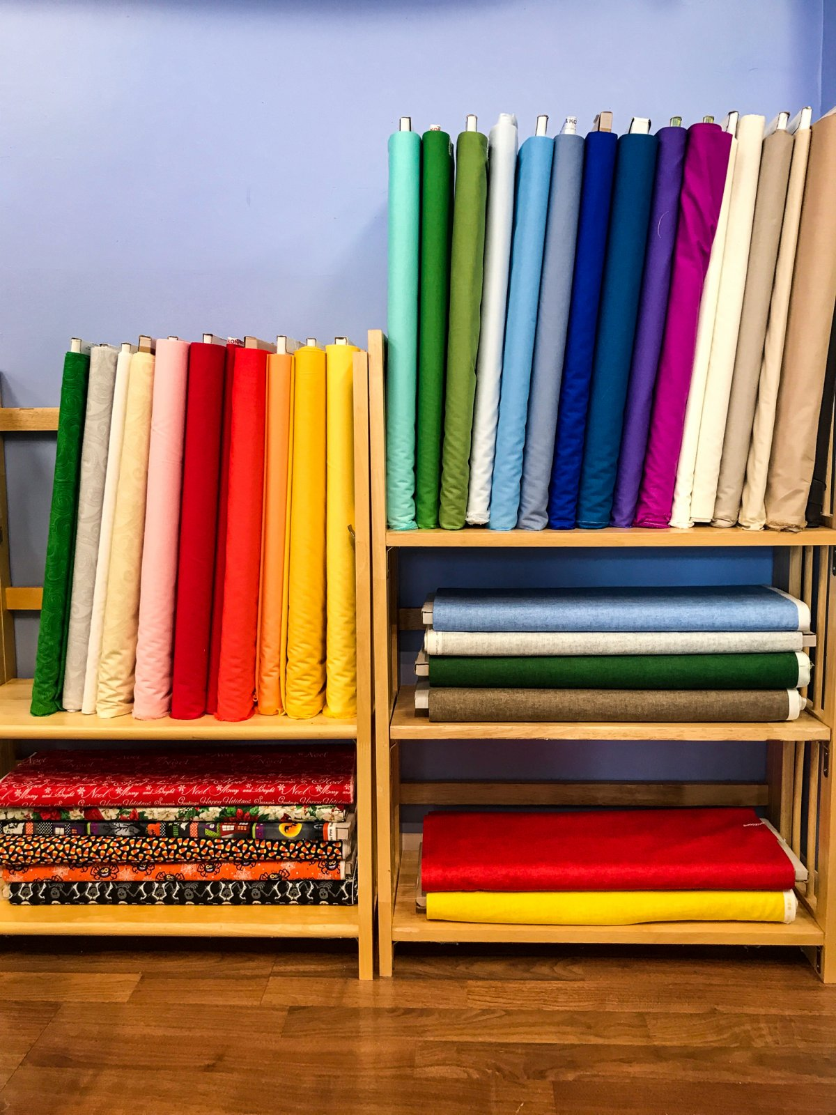 Solid fabrics at albany sewing machine center