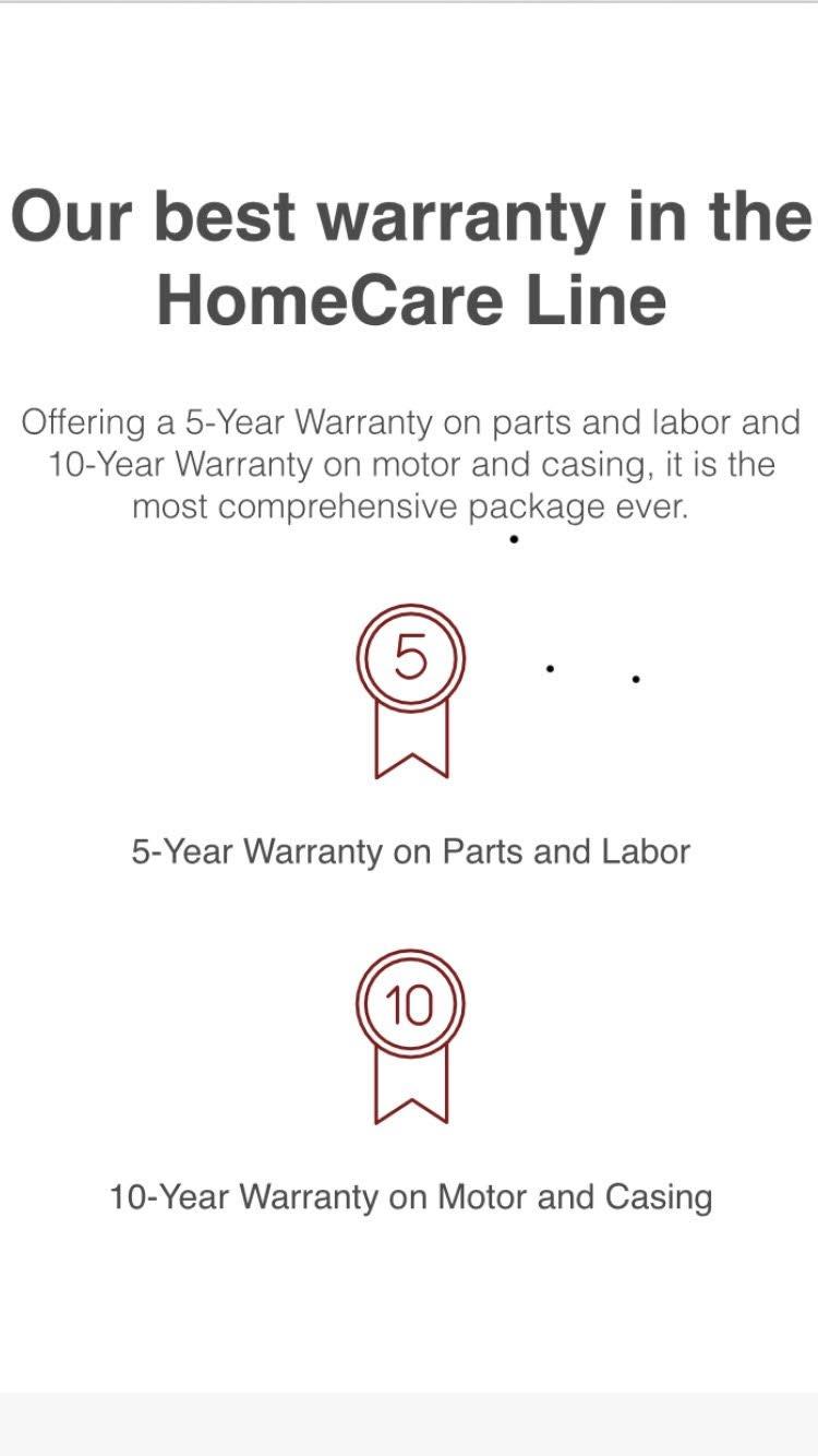 Miele Homecare Series Warranty