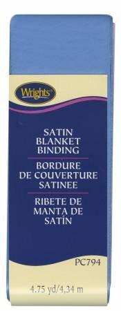 Satin Blanket Binding Porcelain Blue