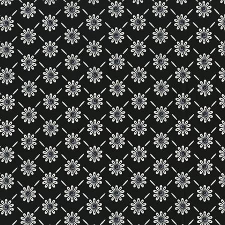 Ink Blossoms - Black with Flowers