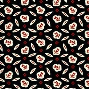 Black Flower Foulard by Windham