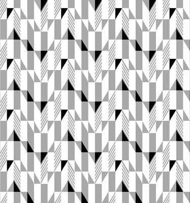 Fade to Black Gray Black Geo on White