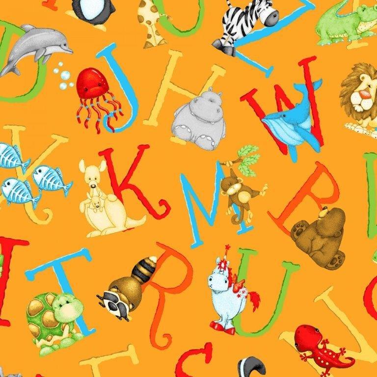 ABC-123 Orange Toss Letters