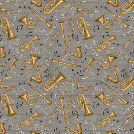 Classically Trained Grey Brass Instrument Toss
