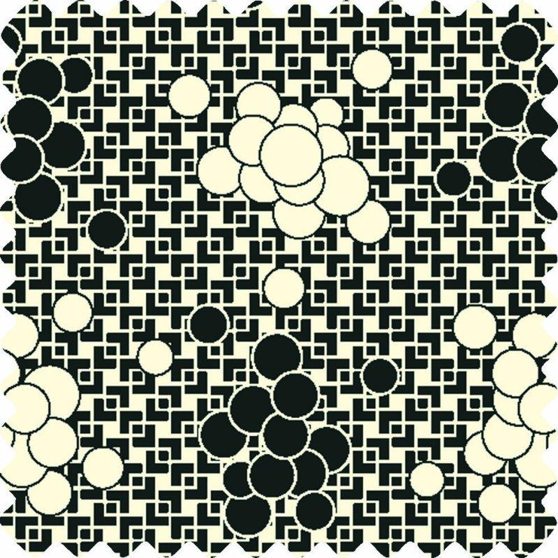 Feedsack II Black and White Bubbles