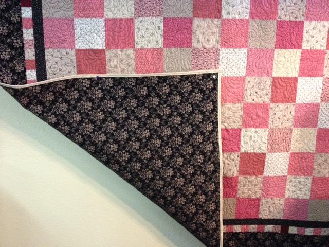 QUILT - Big Star Pink Cream Black 65 x 82
