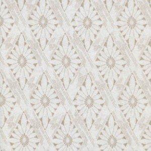 Linen Diamond Floral - Birdsong