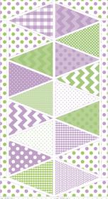 Banner Pendant Print - Purple Green