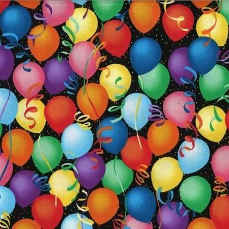Balloons Multi on Black