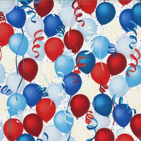 Balloons Patriotic on White