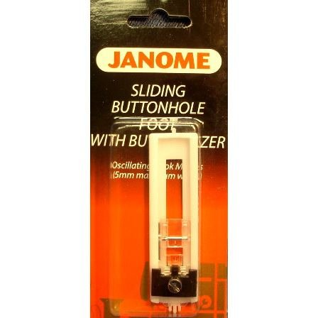 Janome Sliding Buttonhole Foot with Sizer 5mm Oscillating