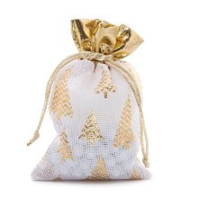 4x6 White/Gold Gilded Tree Fabric Bag