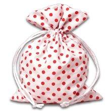 5x7 White/Red Polka Dot Bag