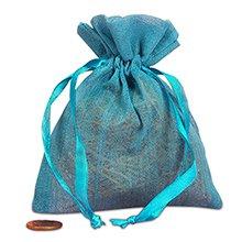 4x5 Blue Muslin Bag
