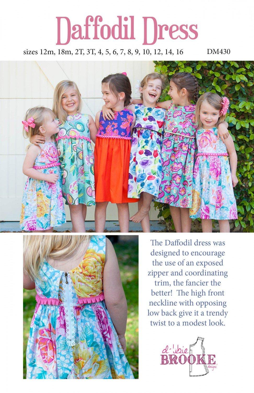 Daffodil Dress Pattern - 12 mo. - 16 yr.