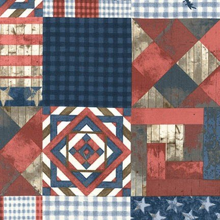 Americana Patchwork from 4th on the Farm by Robert Kaufman