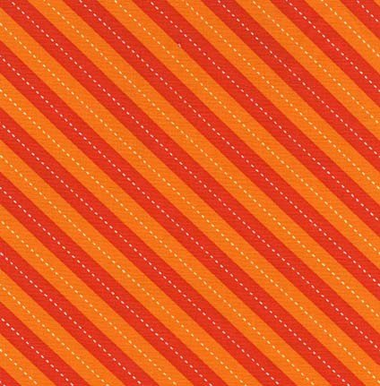 Balloon Stripe - Orange by Michael Miller