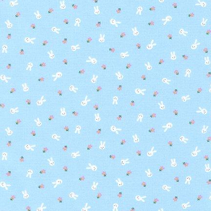 Sevenberry Blue Bunnies by Robert Kaufman