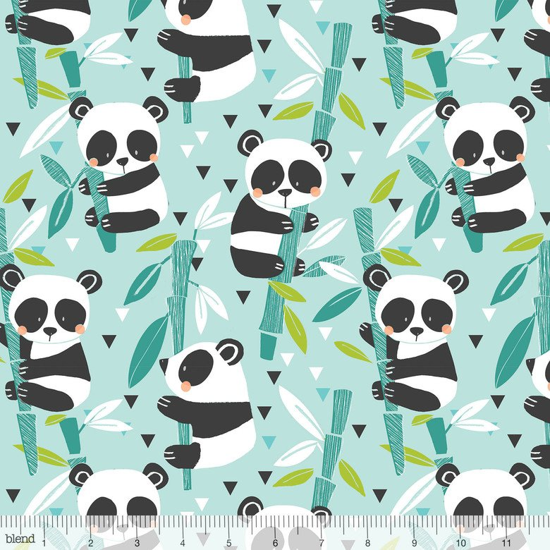 Bamboo Blue from Panda Rama by Blend Fabrics