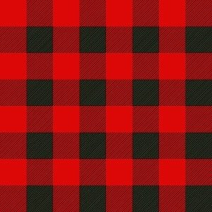 Bright Red and Black Buffalo Plaid Adhesive Vinyl