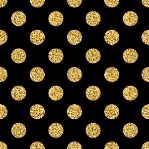 HTV Black and Gold Dot
